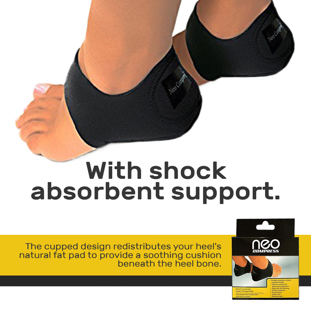 Plantar Fasciitis Therapy Wraps, Provides Relief from Heel and Foot Pain