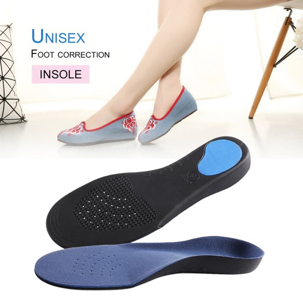 1 Pair Orthotic Flat Foot Arch Support Cushion Shoe Insoles Heel Pain Relief Men Women Plantar Fasciitis Relief Foot Care Tool