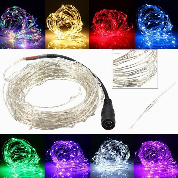 10M Of 100 LED Silver Wire For Christmas Light Waterproof DC12V