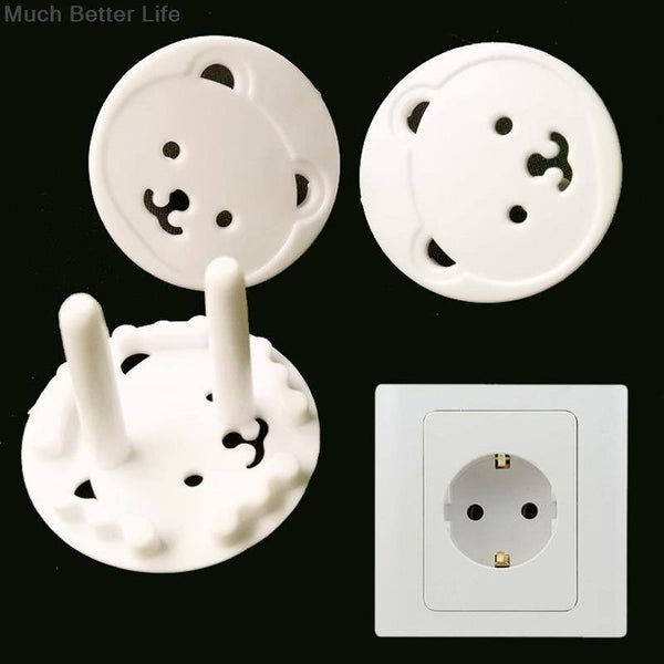 10pcs Bear EU Power Plugs Protector Cover