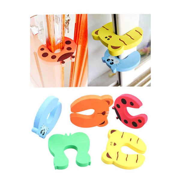 4Pcs Of Cute Door Stop For Keeping Child Safety At Home