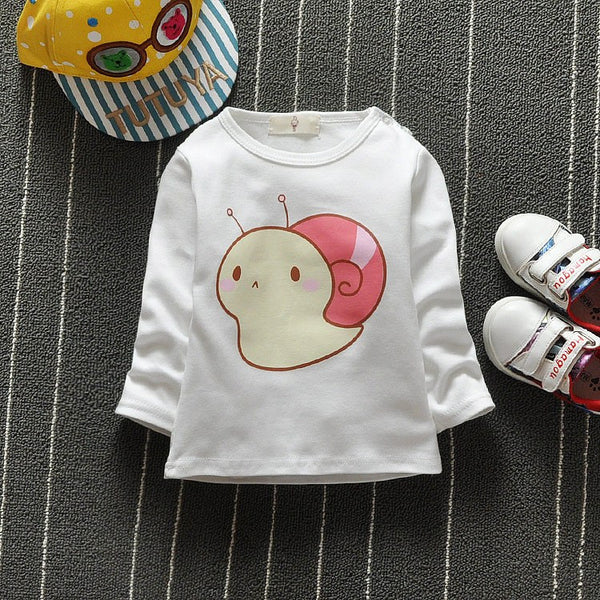 6-24M Months Long Sleeve Baby , Kids T-shirt - 100% Cotton
