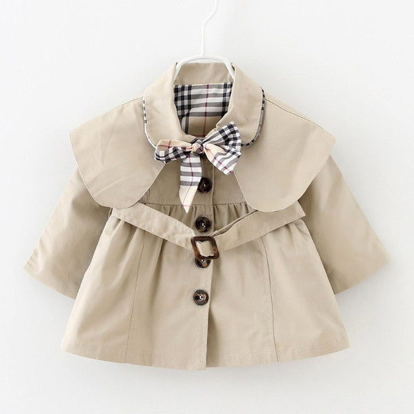 12M-3Y Children - Baby Jacket Outwear Belt and Bow