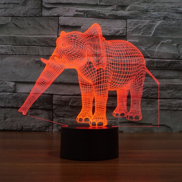 Limited Edition - 3D Hologram Elephant Night Lamp