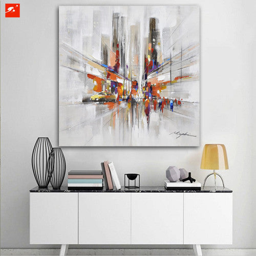 Abstract Downtown New York on Canvas