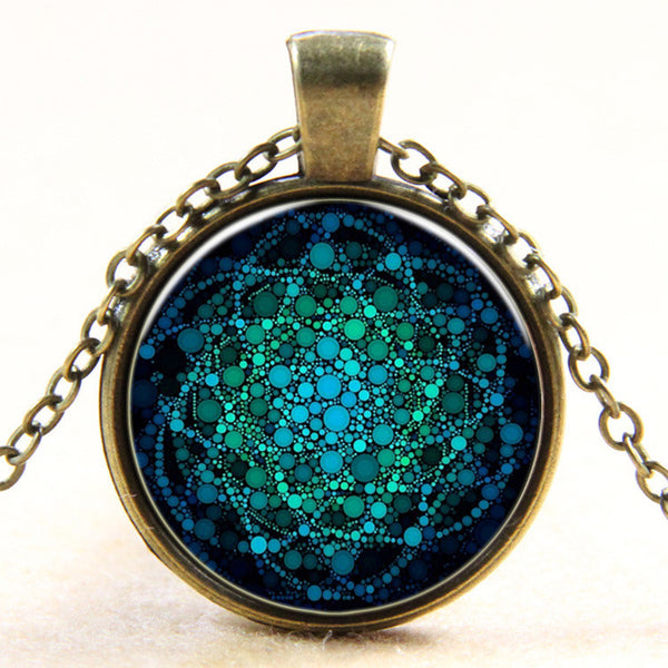 Blue Flower of Life Pendant