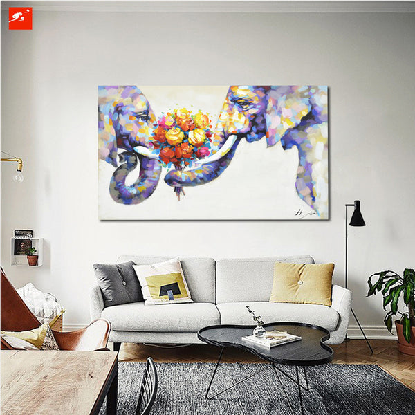 Elephant Love On Canvas