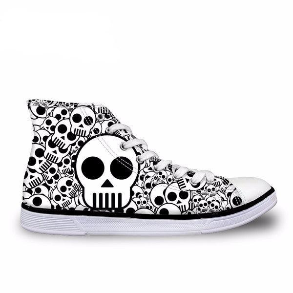 2017 Skull Canvas Shoes