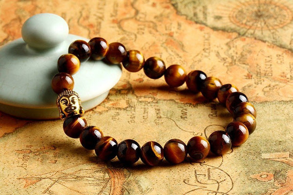 Buddha Bracelet - Tigers Eye