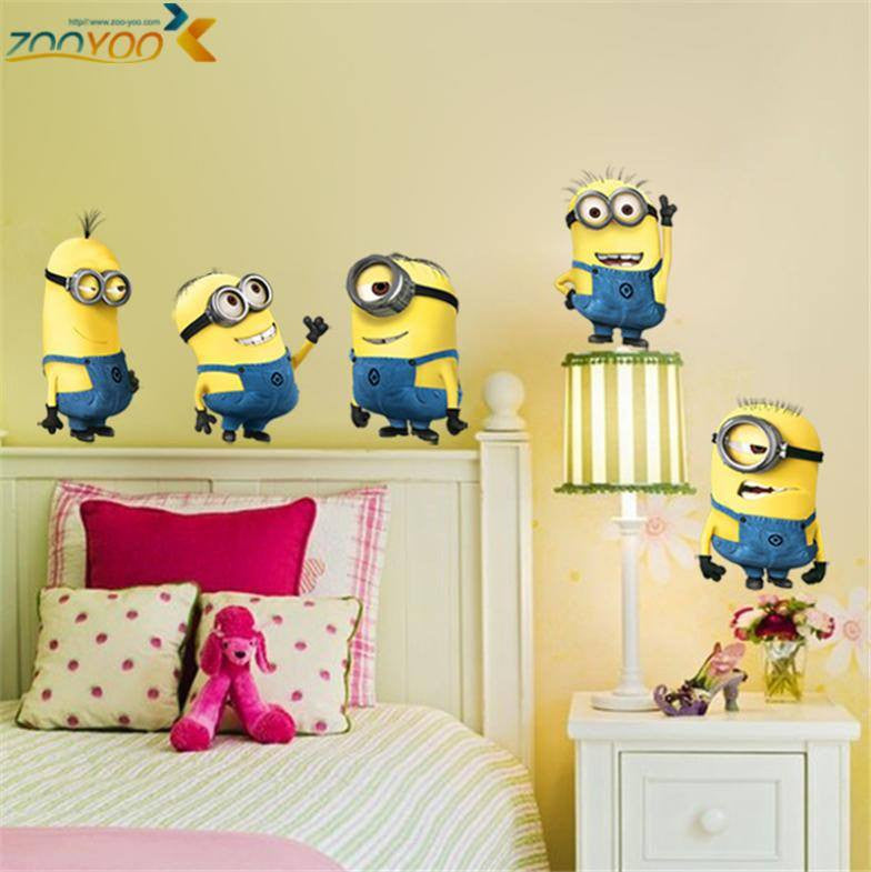 2 minions wall stickers for kids rooms zooyoo1404 decorative wall ...