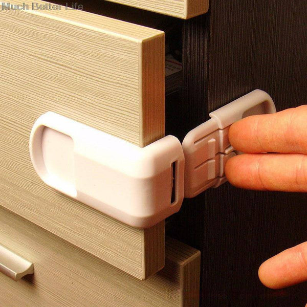 4pcs of Hard PlasticSafety Protection. Suitable for Drawer, Cabinet, Door And More...