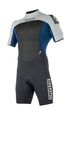 MYSTIC BRAND SHORTY 3/2MM BACK ZIP WETSUIT - NAVY - 2018