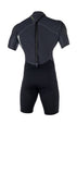 MYSTIC BRAND SHORTY 3/2MM BACK ZIP WETSUIT - BLACK - 2018