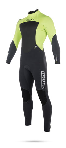 MYSTIC STAR 5/4MM BACKZIP WETSUIT – LIME – 2018