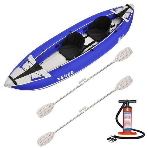 Z-pro Tango 2 man Inflatable Kayak Blue Package