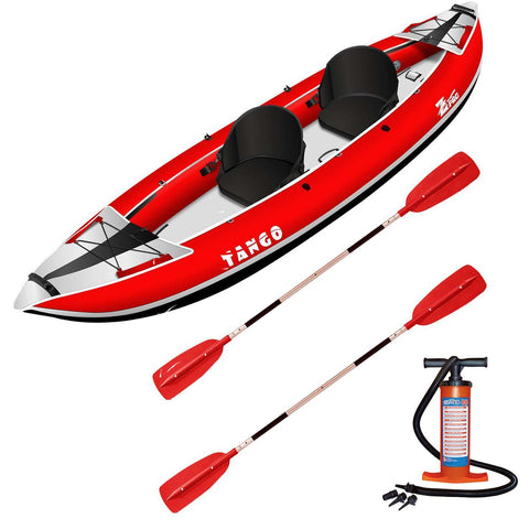 Z-pro Tango 2 man Inflatable Kayak Red Upgraded Package