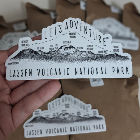 'Let's Adventure' Lassen Volcanic National Park Sticker