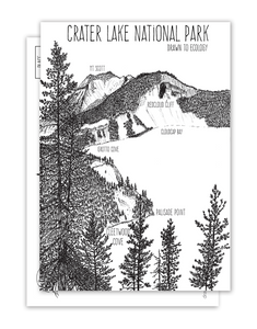 Cleetwood Cove, Crater Lake NPS Postcard