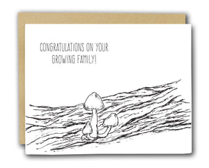Congratulations Family Letterpress Card