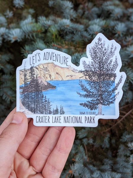 Crater Lake Let's Adventure Sticker