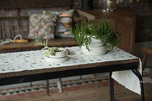 Hemp Table Runner Nature Design