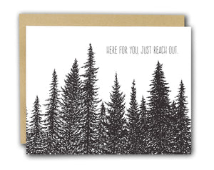Here for You Letterpress Card