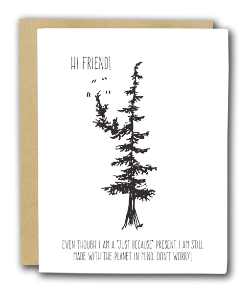 Hi Friend Letterpress Card