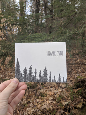 Thank You Trees Letterpress Card