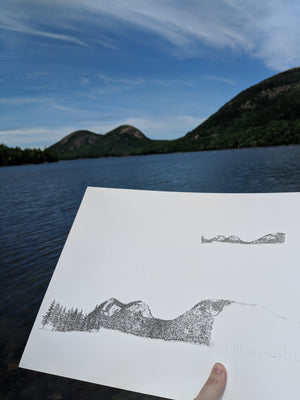 The Bubbles Print, Acadia National Park