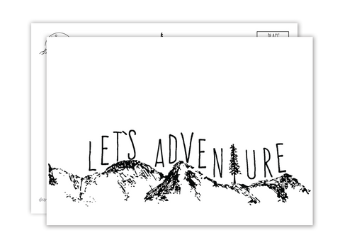 Let's Adventure Postcard