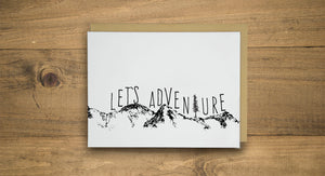Let's Adventure Letterpress Card