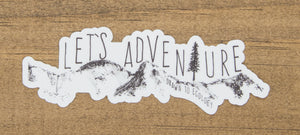 Let's Adventure Sticker