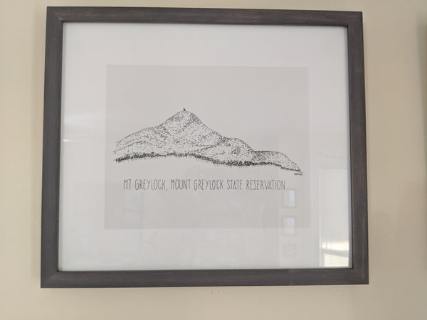 Original Mt Greylock Illustration Framed