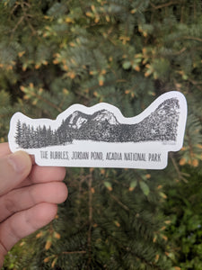 Acadia National Park, The Bubbles, Ink Vinyl Sticker