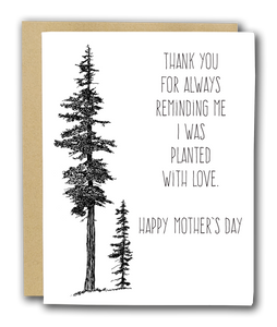 Mothers Day Card Mountain Hemlock