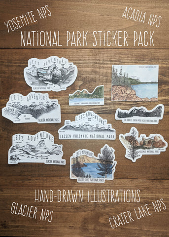 National Park Sticker Pack
