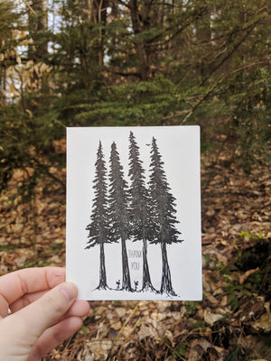 Thank you Hiker Letterpress Card