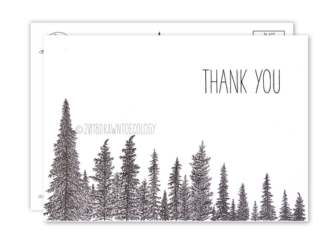 Thank you Trees Postcard