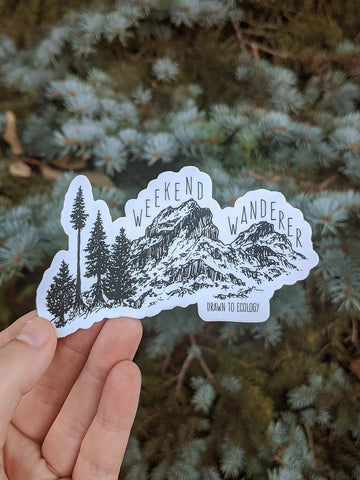 Weekend Wanderer Sticker