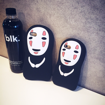 [Spirited Away] No-Face Kaonashi Faceless Spirit Silicone iPhone Phone Case HF00098