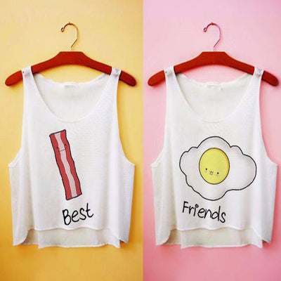 Best Friends Bacon and Eggs Crop Top HF00012