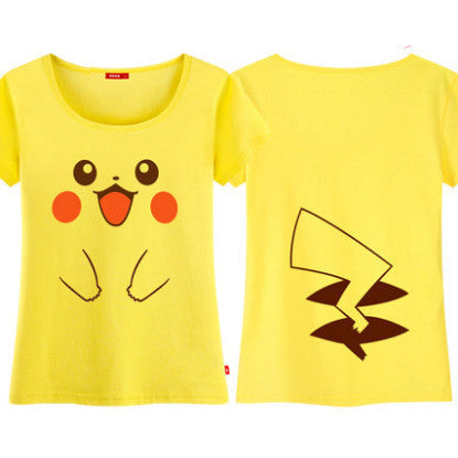 [Pokemon] Pikachu Face Arms and Tail Print T-shirt HF00367