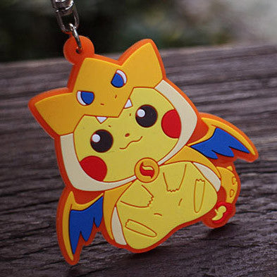 [Pokemon] Pikachu with Charizard Costume Keychains HF00253