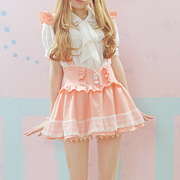 Cute Lolita Strap Skirt (pink and light blue) HF00127