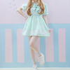 Lolita Bow Lantern Sleeve Sailor Dress HF00125