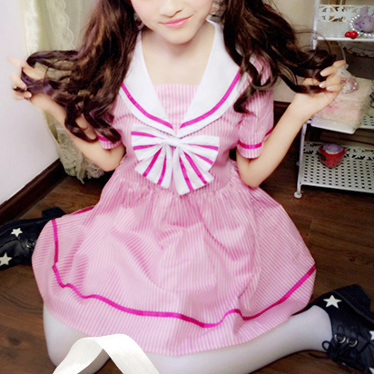 Japanese Kawaii Pink Sailor Dress HF00331