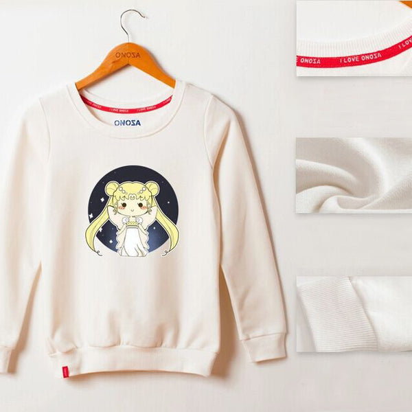 [Sailor Moon] Chibiusa Round Neck Sweaters (various colors) HF00324