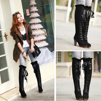 Sweet Straps High Boots (brown and black) HF00518
