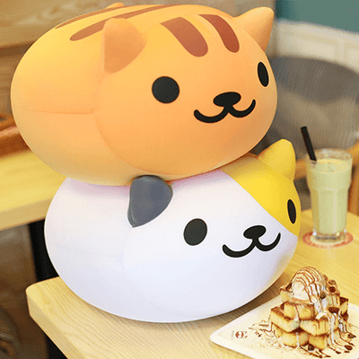 [Neko Atsume] Cute Kitty Cat Round Pillows (various characters) HF00874