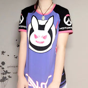 [Overwatch] D.VA DVA Purple Black Bunny T-shirt HF00562